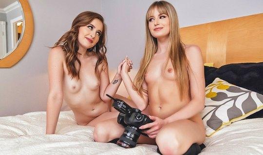 Стройные лесбиянки после фотосессии устроили развратные игры...
