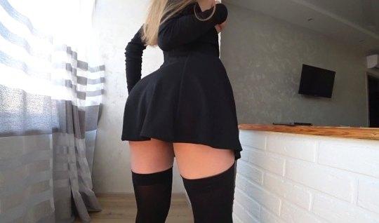 Домашний секс в чулках приносит любовнице максимум удовольст...