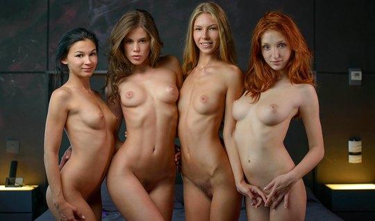 Грудастые студентки устроили на кастинге лесбийскую оргию со...