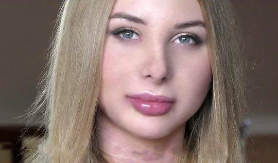 Русская девица на кастинге получает двойное проникновение...